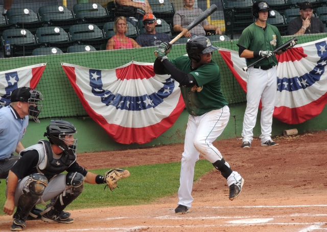 Martin Peguero returns to Clinton after playing for the LumberKings the past two seasons. (Photo by Craig Wieczorkiewicz/The Midwest League Traveler)