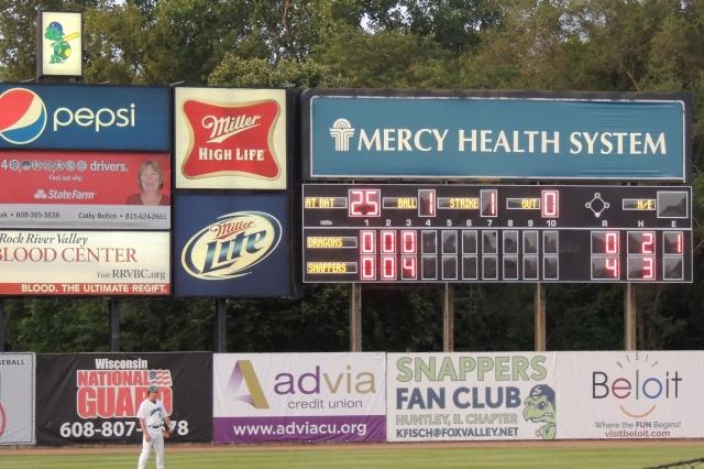 The Pohlman Field scoreboard.