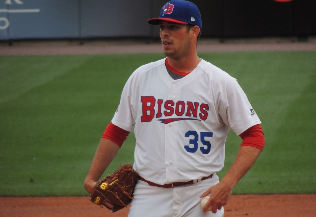 Buffalo Bisons SP Sean Nolin went 4-4 with a 3.49 ERA and 113 strikeouts in 108.1 IP for the 2011 Lansing Lugnuts.