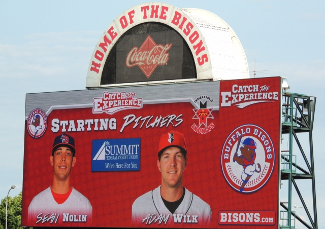 Tuesday's pitching matchup in Buffalo pitted two former Midwest Leaguers against each other.