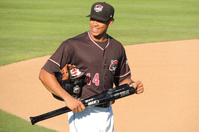 SeaWolves RF Steven Moya (2011-12 Whitecaps) leads the Eastern League with 26 HR and 82 RBI.