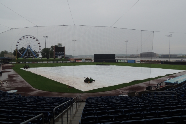 The scene at Modern Woodmen Park on Saturday afternoon.