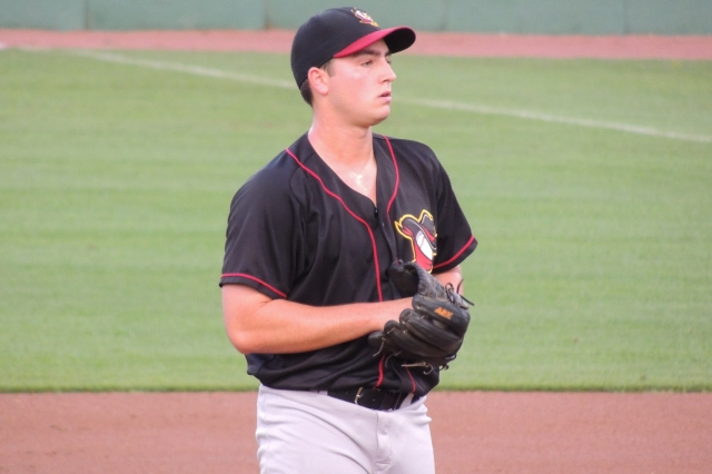 Andrew Thurman on the mound for the Quad Cities River Bandits last year. (Photo by Craig Wieczorkiewicz/The Midwest League Traveler)