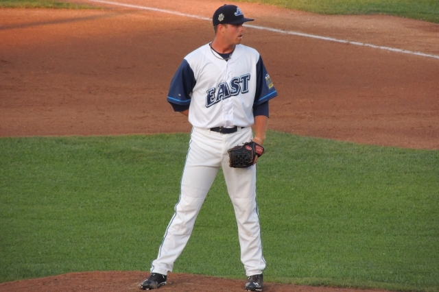 Buck Farmer pitched in this year's Midwest League All-Star Game. (Photo by Craig Wieczorkiewicz/The Midwest League Traveler)