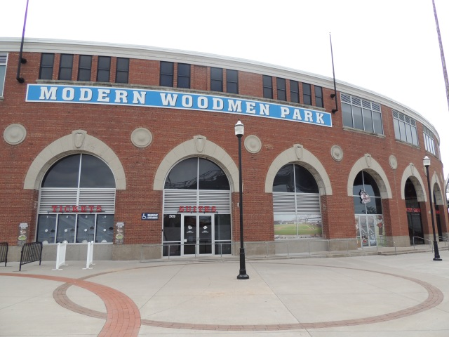 Modern Woodmen Park, home of the Quad Cities River Bandits. (Photo by Craig Wieczorkiewicz/The Midwest League Traveler)