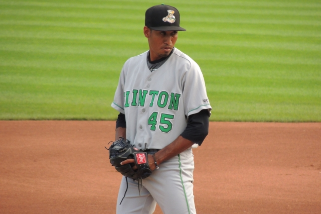 Seattle Mariners prospect Edwin Diaz pitched for the 2014 Clinton LumberKings. (Photo by Craig Wieczorkiewicz/The Midwest League Traveler)