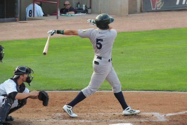 Beloit Snappers 1B Michael Soto hit a home run with this swing.