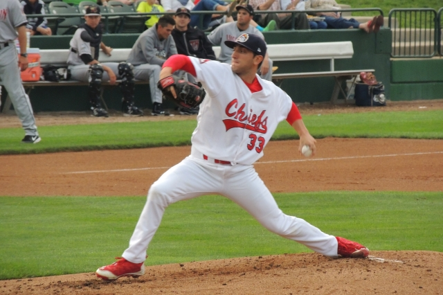 New Cleveland Indians prospect Rob Kaminsky pitched for the Peoria Chiefs last year. (Photo by Craig Wieczorkiewicz/The Midwest League Traveler)
