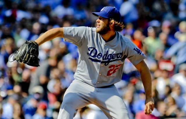 Dodgers LHP Clayton Kershaw pitches during what turned out to be his 20th win of the 2014 season. (Photo by Matt Marton/USA TODAY Sports)