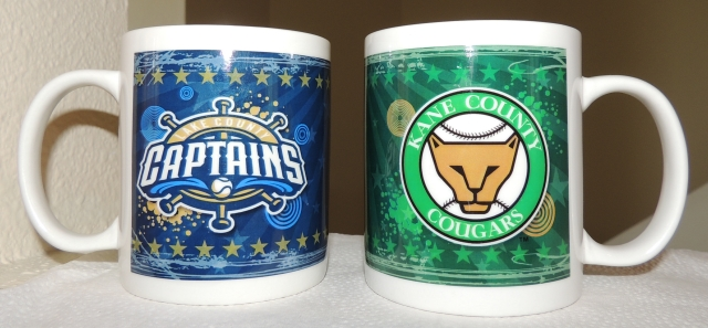 Which of these coffee mugs will I use next week? The answer depends on which team wins the Midwest League Championship Series!