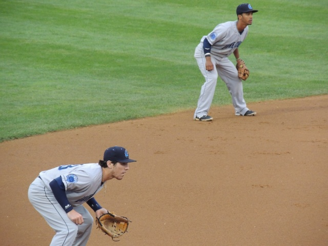 3B Grant Fink (foreground) committed a fielding error, and SS Ivan Castillo made a fielding error and a throwing error.