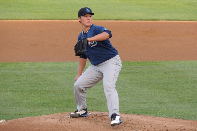 Lake County Captains RHP Mitch Brown (Photo by Craig Wieczorkiewicz/The Midwest League Traveler)