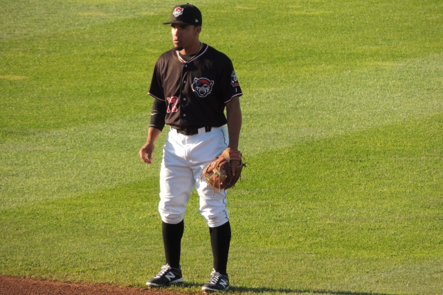 Devon Travis played second base in all but five of his 100 games with the Erie SeaWolves this year. (Photo by Craig Wieczorkiewicz/The Midwest League Traveler)