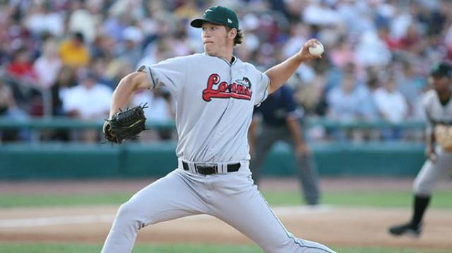 Clayton Kershaw was the winning pitcher in the 2007 Midwest League All-Star Game. (Photo courtesy of the Great Lakes Loons)