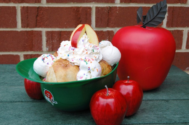 "The award-winning ""Big Apple"" dessert available at Parkview Field. (Photo courtesy of the Fort Wayne TinCaps)"