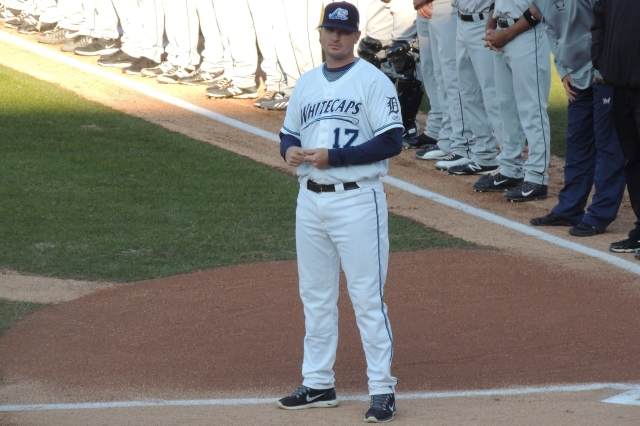 West Michigan Whitecaps manager Andrew Graham (Photo by Craig Wieczorkiewicz/The Midwest League Traveler)