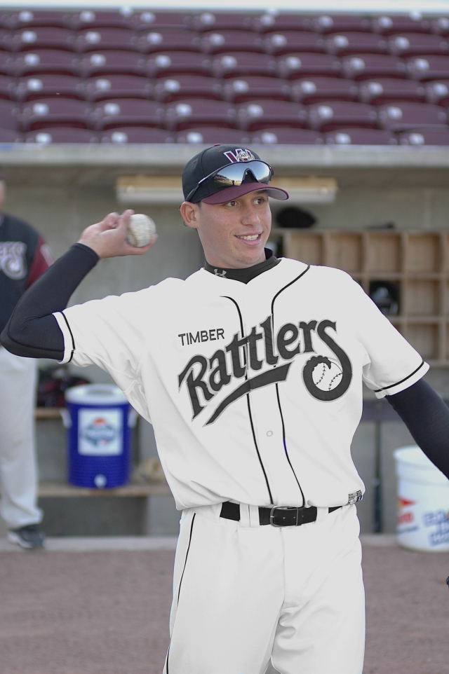 Asdrubal Cabrera as a Timber Rattler in 2005. (Photo from Rattler Radio)