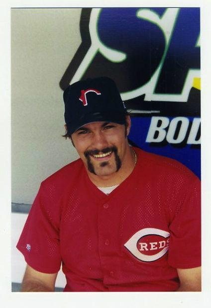 Then-Rockford Reds catcher Corky Miller at the 1999 Midwest League All-Star Game. (Photo by Lisa Winston)