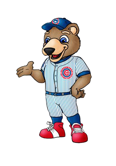 Image of the new South Bend Cubs mascot released by the team today.