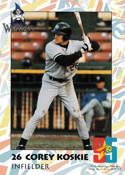 Corey Koskie's 1995 Fort Wayne Wizards baseball card