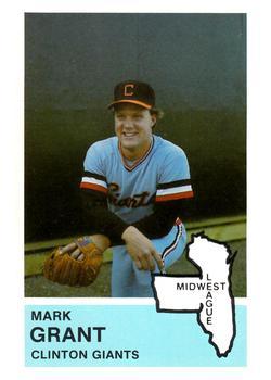 Mark Grant's 1982 Clinton Giants card