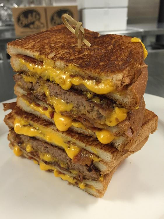 The Grilled Cheese Bacon Cheeseburger