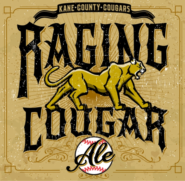 Raging Cougar Ale will be on tap at Fifth Third Bank Ballpark this season. (Artwork/logo courtesy of the Kane County Cougars)