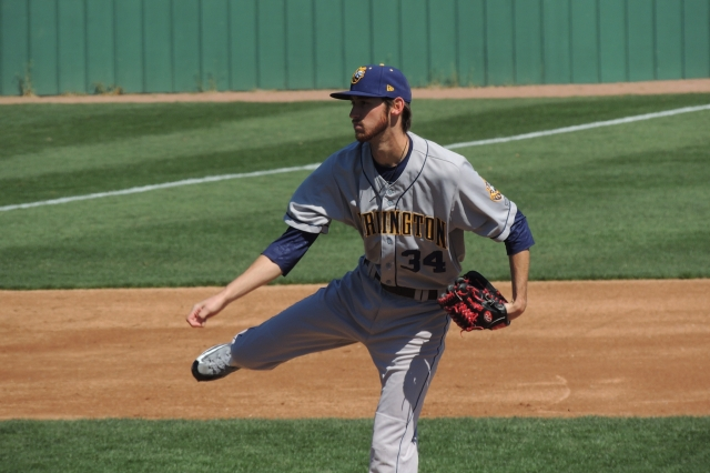 Austin Robichaux pitched five scoreless innings for the Bees on Thursday.