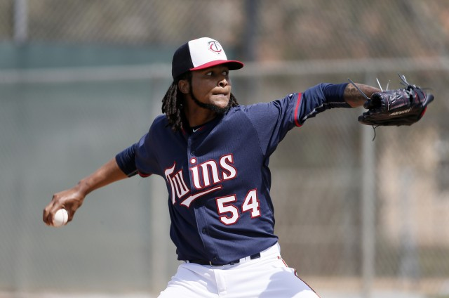 Minnesota Twins pitcher Ervin Santana was suspended Friday after testing positive for a performance-enhancing drug. (Associated Press photo by Tony Gutierrez)