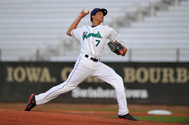 Cedar Rapids Kernels RHP Felix Jorge (Photo by Dennis Hubbard/MLB.com)