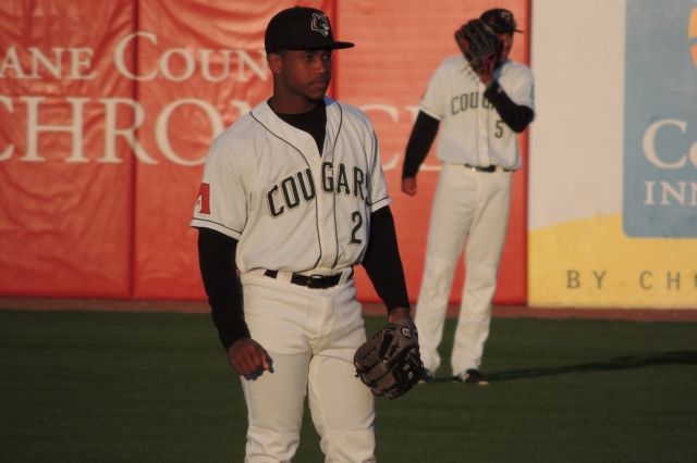 Kane County Cougars 2B Fernery Ozuna (Photo by Craig Wieczorkiewicz/The Midwest League Traveler)