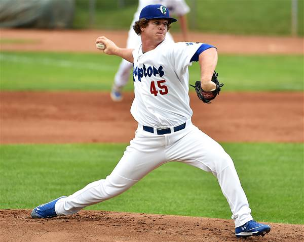 Dodgers prospect Grant Holmes started four games for the Ogden Raptors last year. (Photo by Stephen Smith/Standard Examiner)