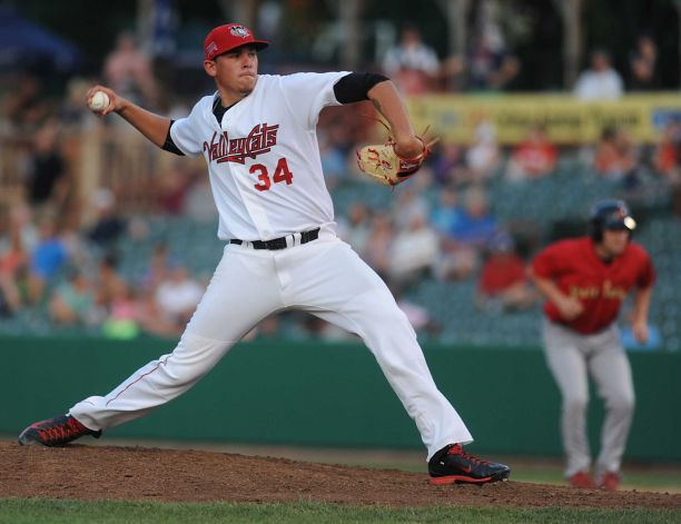 Astros prospect Joe Musgrove pitched for the Tri-City ValleyCats last year. He is assigned to the Quad Cities River Bandits to start the 2015 season. (Times Union photo by Lori Van Buren)