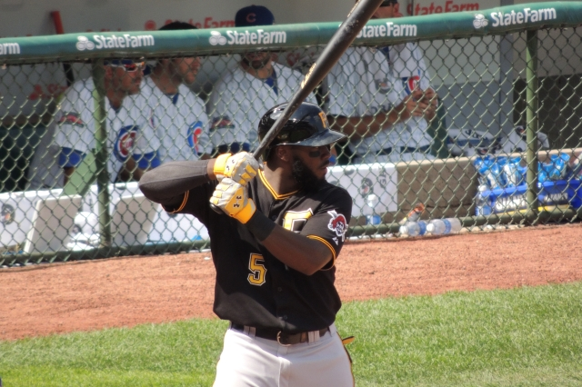 Pittsburgh Pirates 3B Josh Harrison bats during a game at Wrigley Field last September. (Photo by Craig Wieczorkiewicz/The Midwest League Traveler)