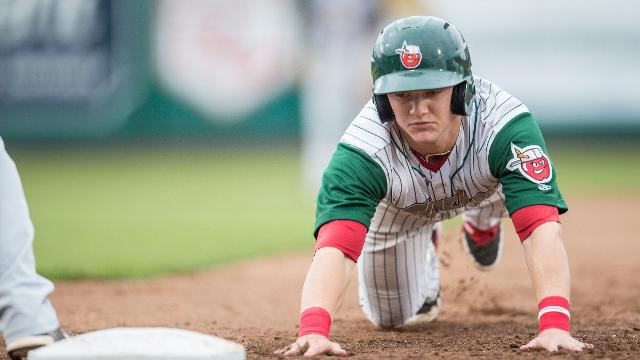 Fort Wayne area native Josh VanMeter will play for the TinCaps again this year. (Photo by Jeff Nycz)