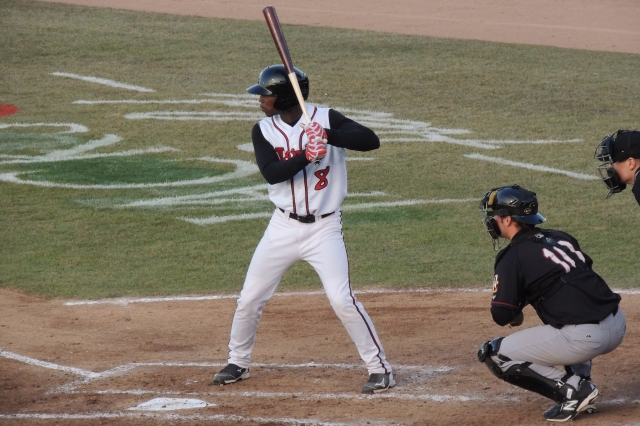 Toronto Blue Jays OF prospect D.J. Davis returns to Lansing after batting .213 for the Lugnuts last year. (Photo by Craig Wieczorkiewicz/The Midwest League Traveler)