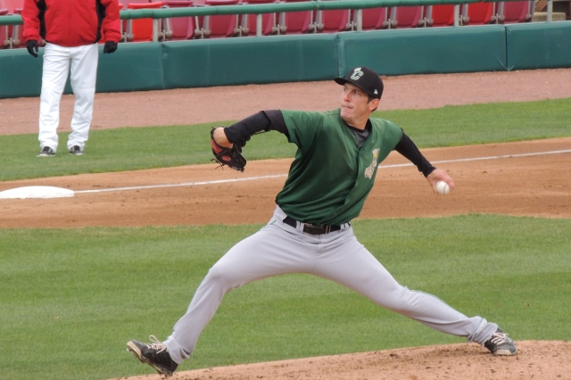 Pat Peterson earned the win for the Clinton LumberKings on Wednesday.