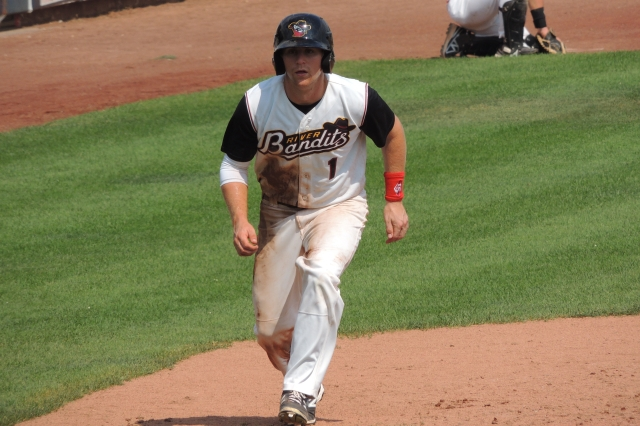 OF Ryan Bottger played in 34 games with the Quad Cities River Bandits last year. (Photo by Craig Wieczorkiewicz/The Midwest League Traveler)
