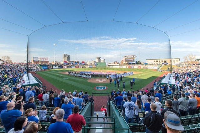 Over 7,000 fans attended the South Bend Cubs' home opener Thursday. (Photo by Matt Cashore)