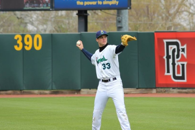 Cedar Rapids Kernels INF Trey Vavra (Photo from the Kernels' Facebook page)