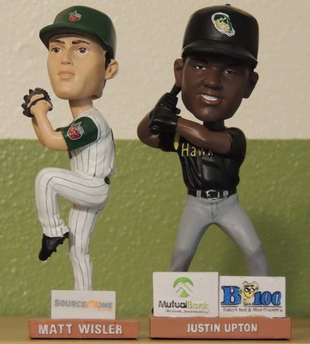 Midwest League bobbleheads of Matt Wisler and Justin Upton (from the author's personal collection)