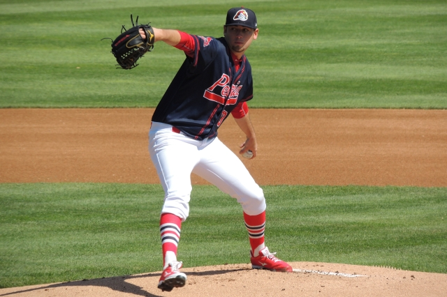 Peoria Chiefs LHP Austin Gomber (Photo by Craig Wieczorkiewicz/The Midwest League Traveler)