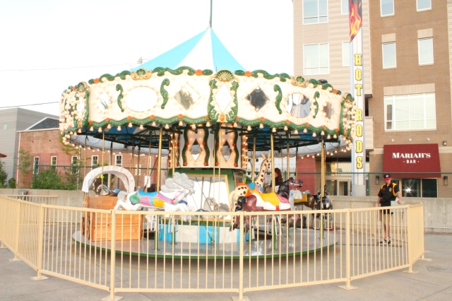 The new carousel at Bowling Green Ballpark. (Photo courtesy of the Hot Rods)