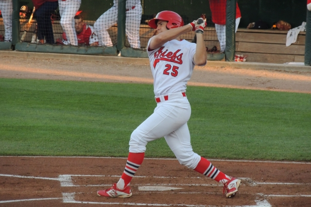 Collin Radack's five-hit performance helped the Peoria Chiefs put an end to the Cedar Rapids Kernels' winning streak. (Photo by Craig Wieczorkiewicz/The Midwest League Traveler)
