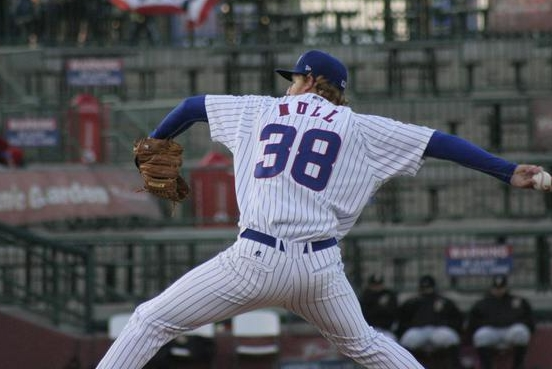 South Bend Cubs RHP Jeremy Null (Photo from SB Cubs' Twitter feed/photographer unknown)