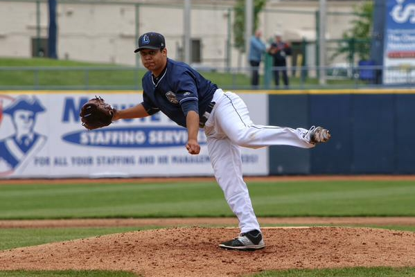 Lake County Captains LHP Justus Sheffield got the win Tuesday. (Photo by Tim Phillis/TCP Photography)