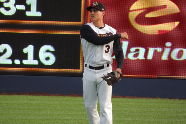 Quad Cities River Bandits second baseman Mott Hyde