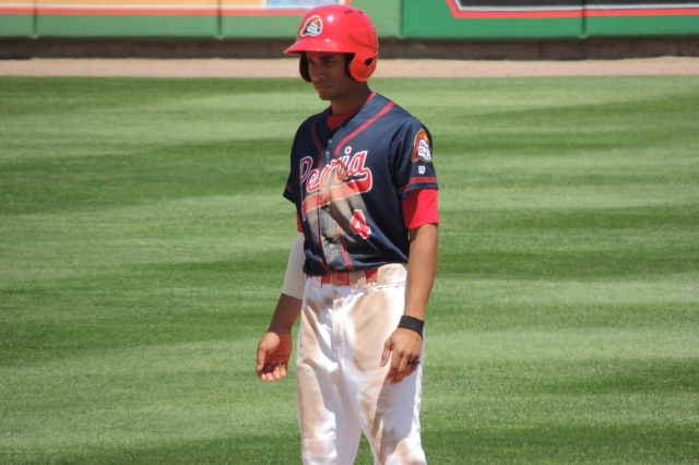 Peoria Chiefs SS Oscar Mercado (Photo by Craig Wieczorkiewicz/The Midwest League Traveler)