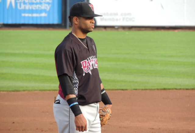 Sthervin Matos starred offensively for the Wisconsin Timber Rattlers as they ended their 12-game losing streak Thursday. (Photo by Craig Wieczorkiewicz/The Midwest League Traveler)