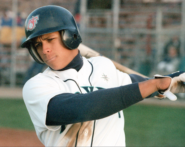Alex Rodriguez as a member of the 1994 Appleton Foxes. (Post-Crescent photo)